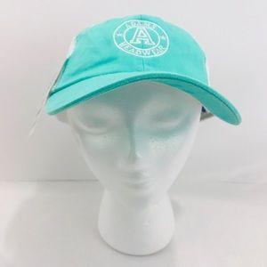 Adams Headwear Aqua White Mesh Back Sport Hat NWT